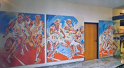 Ottenbruch Neuhausen ulrich zeh kunst am bau öffentliche auftragsarbeiten sportbilder